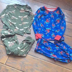 Bundle Pajamas - Spider Man/Moose Print - Size 4T